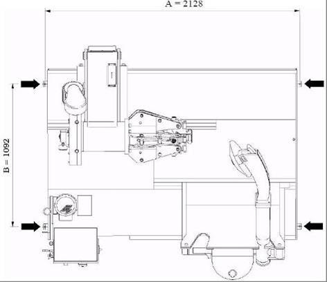 Схема расположения анкерных